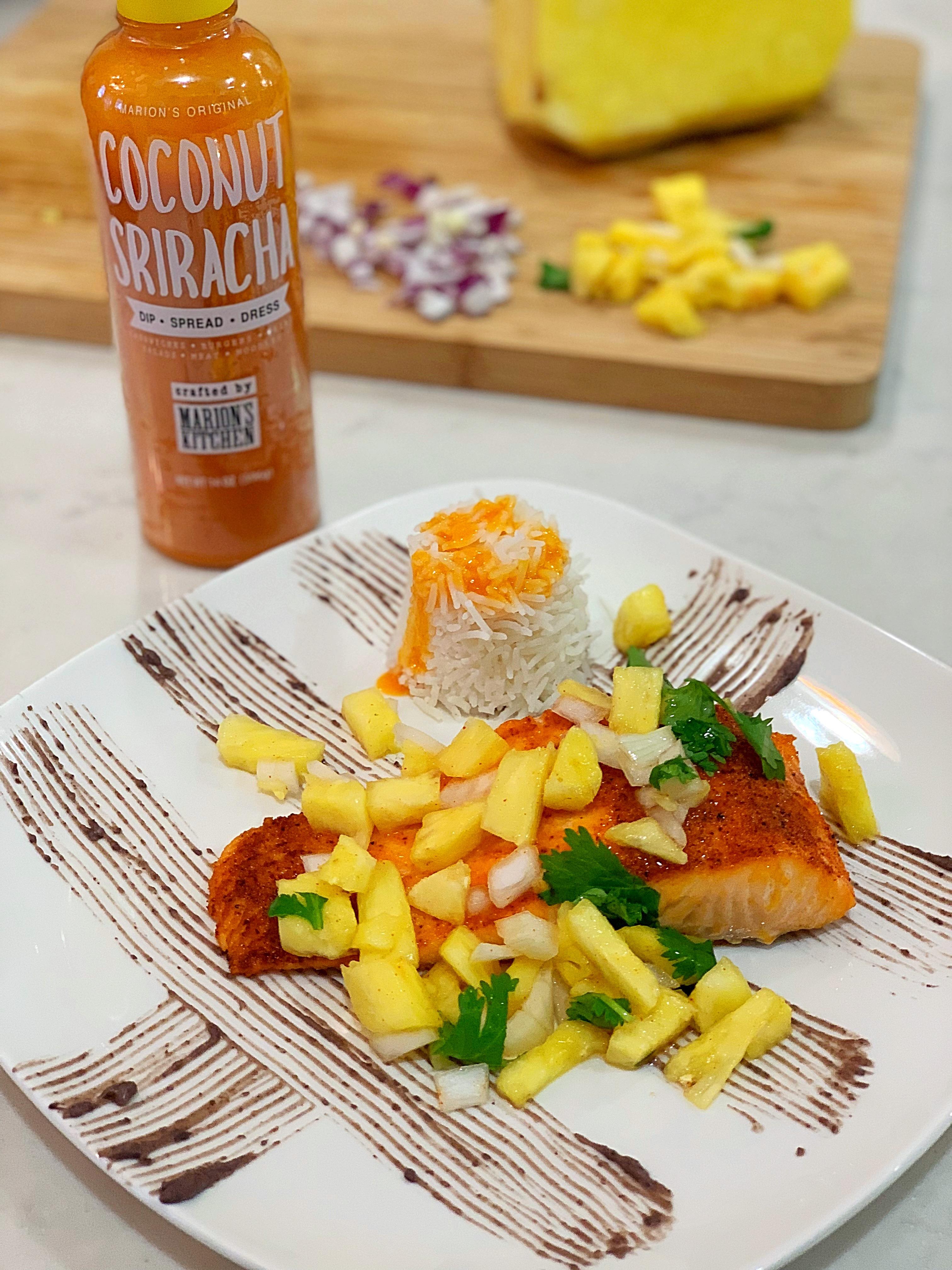 Coconut Sriracha Salmon Da Stylish Foodie