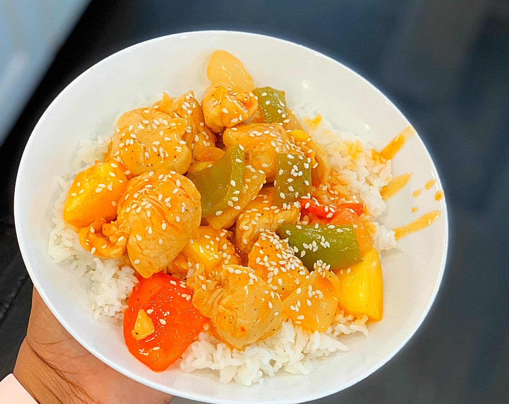 sweet  sour chicken  da' stylish foodie